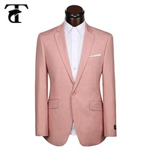 Oem design light tea rose Polyester/Rayon custom made man suit