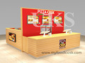 Shopping mall pizza kiosk, pizza shop counter design and crepe kiosk for sale