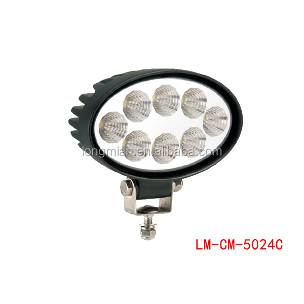 Car Accessories Oval Work Light 24w LED worklamp 4x4 for offroad led work light for truck tractor