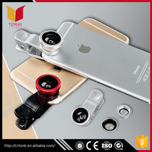 New arrival universal 3 in1 wide angle+macro+fish eye Mobile Phone Camera Lens