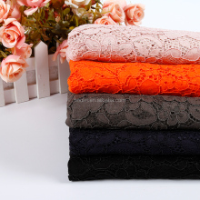 most value free sample multi color orange color african lace fabric
