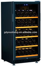2014 hot wine electric appliance wholesale mini bar fridge hotel mini fridge USF-72S( 240 Liters72 bottles)with single zone