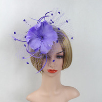 New Design Flower Feather Headband Fascinator bridal hair accessories