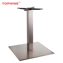 TOPHINE Furniture Stainless Steel Square Table Base For Glass Dining Tops