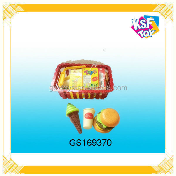2014 Newest ! Cutting Grade Plastic Toys, Kitchen Play Toys, Fast Food Toys