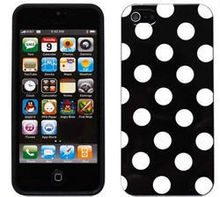 2013 New Arrival Polka Dot Design For Apple Iphone 4 Soft TPU Phone Case