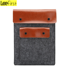 Factory Price Felt Leather Laptop Sleeve Cover Slim Protective Case for MacBook air/pro 11/12/13/15 inch