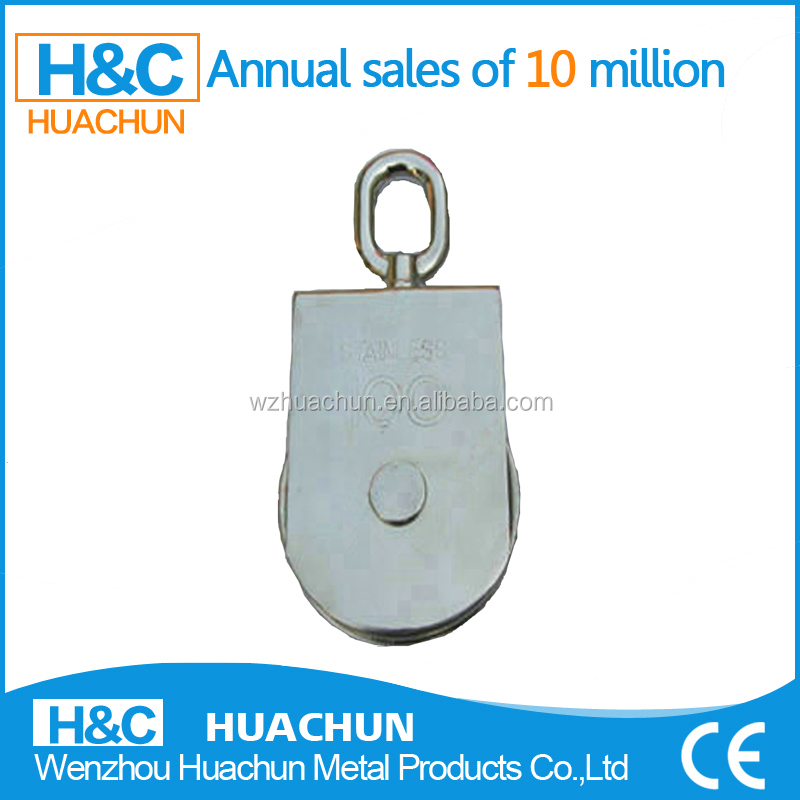 2015 STAINLESS STEEL SQUARE SWIVEL EYE SINGLE DOUBLE PULLEY/BLOCK