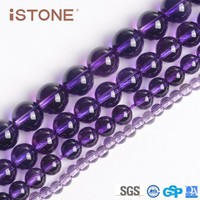 16 inch 10mm Fashion Round Natural Amethyst Beads For Bracelets