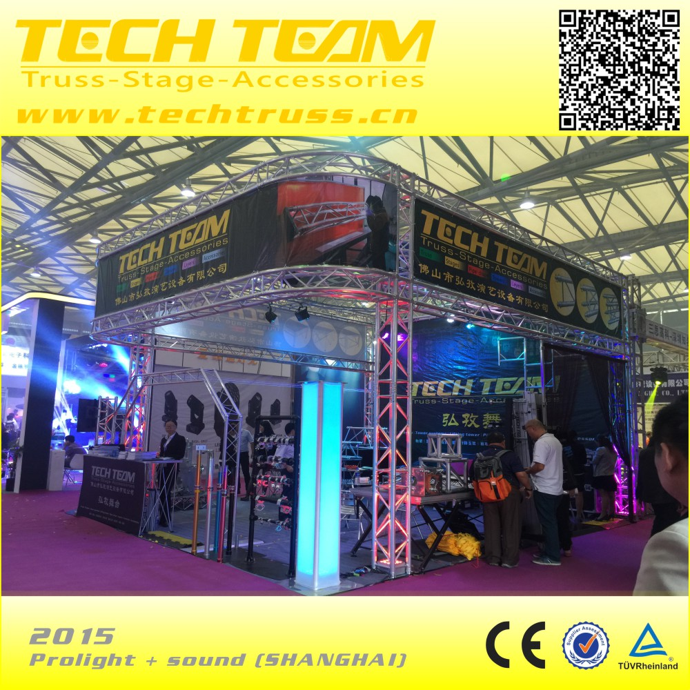 Techtruss-spigot stage light display truss