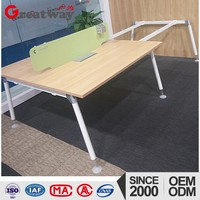 open office space 4 seat cubicle modular workstation desk