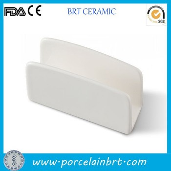China wholesale simple style customized ceramic Cheap Napkin Holder