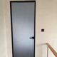 Black internal frosted toilet glass door,frosted glass office doors