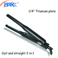 Portable professional 0.25 inch hair straightener titanium ceramic flat Irons adjustable temperature hair curling wand