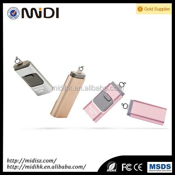Newest products wholesale custom mini otg usb drive flash for iphone