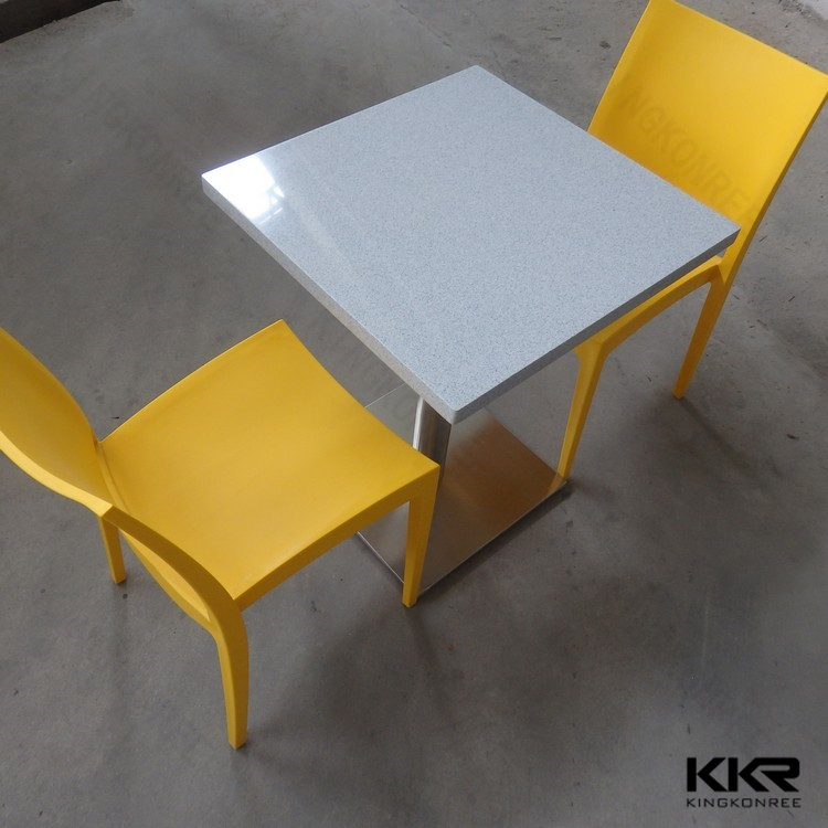 acrylic solid surface restaurant dining tables and chairs in Shenzhen