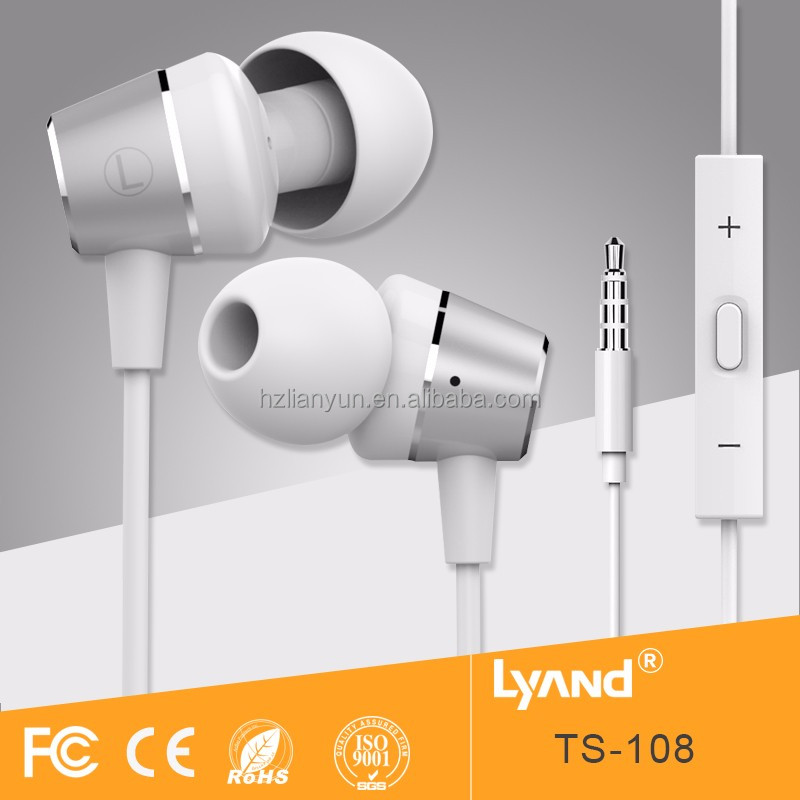 High quality new design and quality free samples offered gift earphone with mic