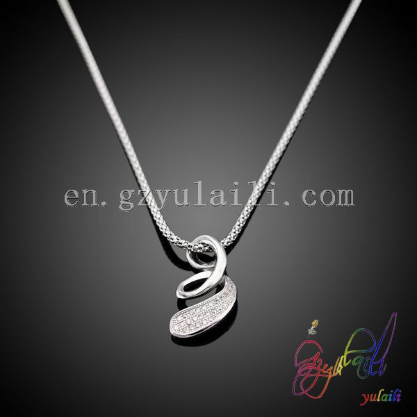 Wholesale 925 sterling silver pendant neckalce for Women Snake Lace Solid Silver mens or women's silver chain necklace