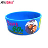"Wholesale good quality custom embossed logo 1"" silicone wristbands"