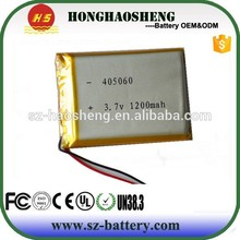 Best price 405060 li ion battery 3.7v 1200mah li-polymer battery