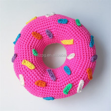 coloful round donut crochet cushion pillows home decor