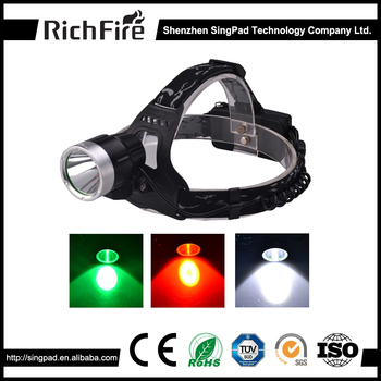 5V OUTPUT/INPUT best headlamp rechargeable led green hunting flashlight