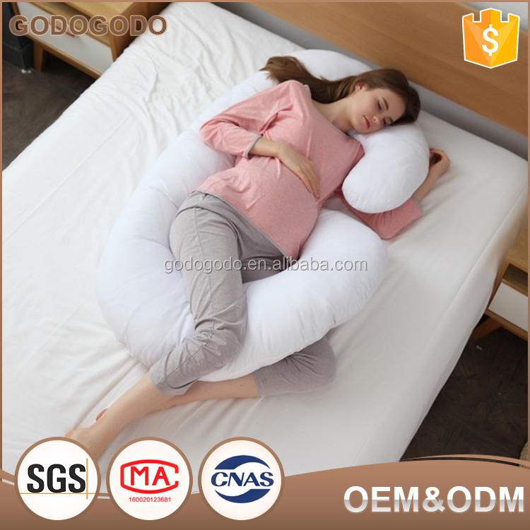 Wholesale Price Custom Fiber Filling Cotton Cover Feeding Body Rest C Shape Pregnancy Pillow