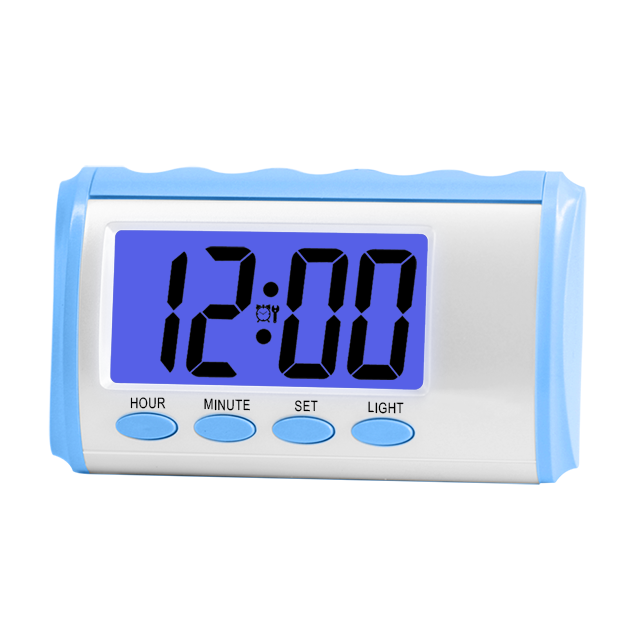 LCD display chime every hour digital alarm clock AA <strong>battery</strong> operated talking clock