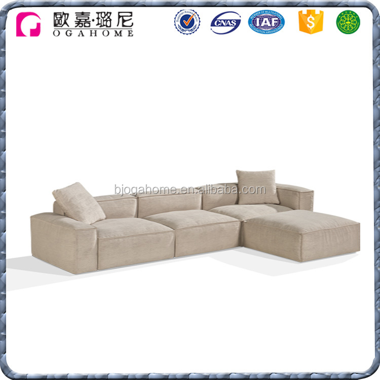 Customized Luxury Upholstery Sectional Fabric Couch Sofa Group
