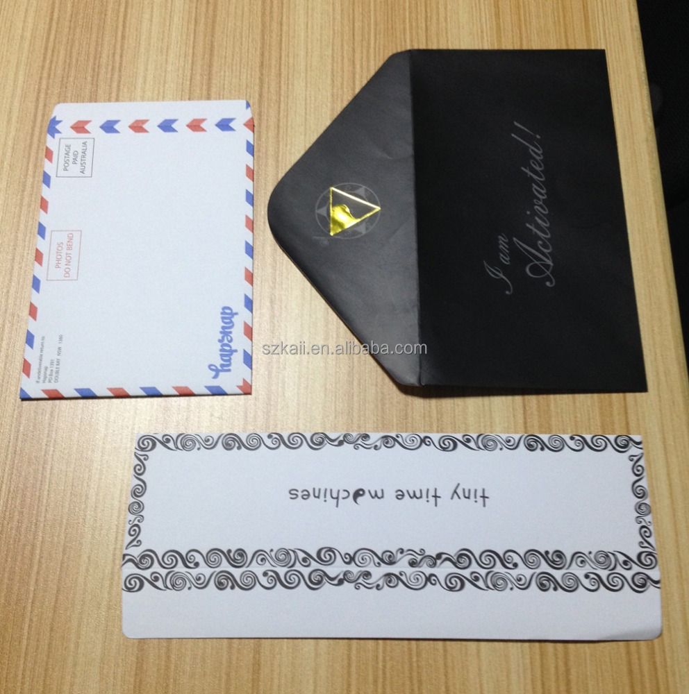 custom size smart printing design gold foil envelope high quality factory in China