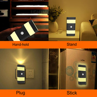 Square Round Long Shape Avariable Induction Lamp Night Lights
