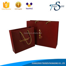 Handbag shape brown paper gift bag import cheap goods from china