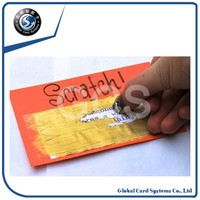 printed paper scratch calling card with pin number