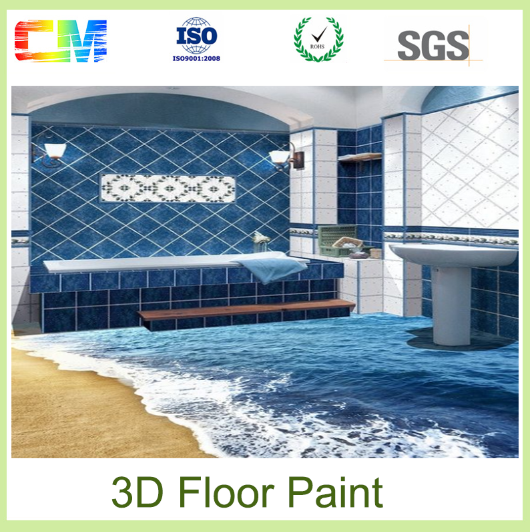 Resistance to mould and bacterial growth anti slip waterproofing epoxy 3d floor paint