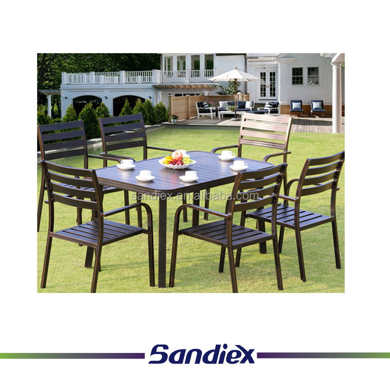 Classical outdoor furniture balcony courtyard chairs sofa modern leisure iron table with rust prevention