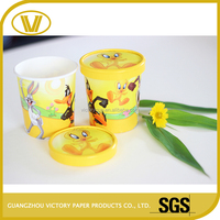Offset Printing Eco-Friendly disposable paper ice cream packaging box containers cup
