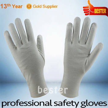 25G glove weight High Quality With Low Price white cotton pvc glove