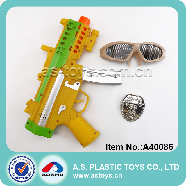 Eco-friendly and safe material plastic toy submachine gun