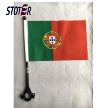 promotional Portugal cheap custom printing bike flag bicycle flag