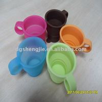 Collapsible silicone rubber folding foam cup