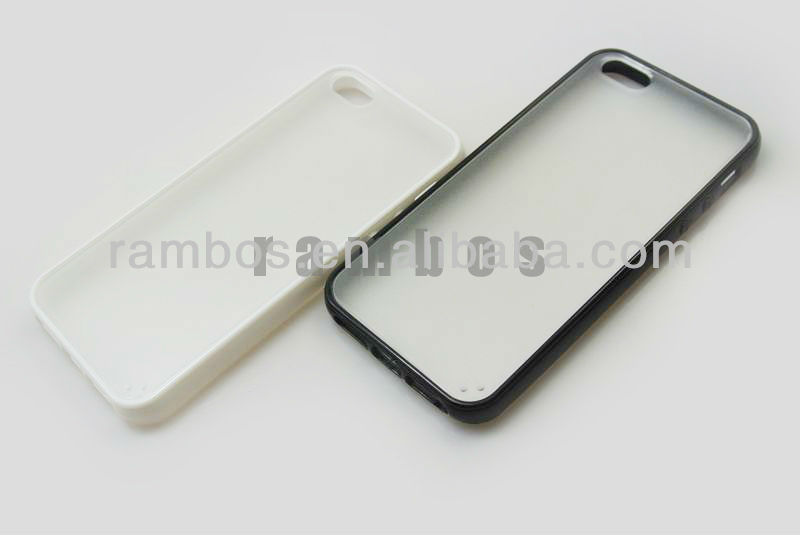 Plastic Rubber Clear Case TPU Bumper Snap Back Hard Skin Cover for iphone 5