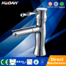 KD-57002 Chrome plating Hot and cold single handle faucet TOP 1 basin taps manufacturer