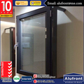 Brown aluminum windows with double glazing German hardware hot sale in Canada