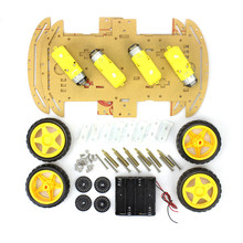 Electronic Educational DIY Dual Layer 4 Wheels 4WD Smart Robot Car Chassis Kits