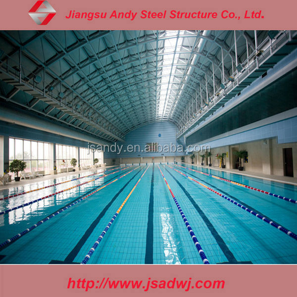 swimming pool roof cover steel shade membrane structure