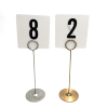 Factory Wholesale Stainless steel restaurant table number menu card holders