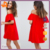 OEM off shoulder red party dress,latest casual new model women dress designs