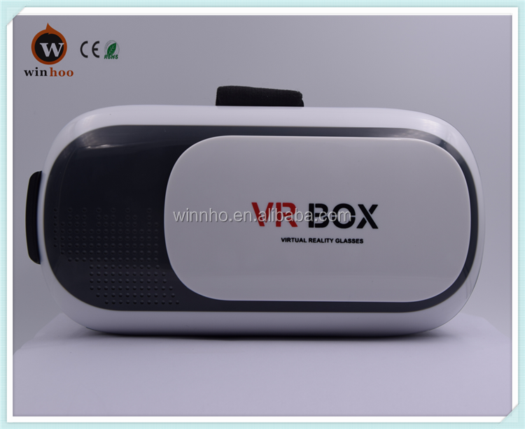 Wholesale factory price Vr Box 2.0 Virtual Reality Viewer Cardboard 3D Vr Glasses for hot blue sexy movie