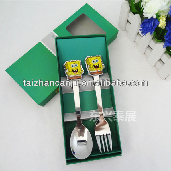 Stainless steel decorative metal spoon fork