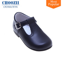 Latest Design Fancy Genuine Leather Little Kids Girls Mary Jane Shoes